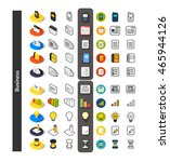 set of icons in different style ... | Shutterstock .eps vector #465944126