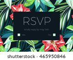wedding invitation and card... | Shutterstock . vector #465950846