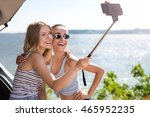 just smile. cheerful delighted... | Shutterstock . vector #465952235