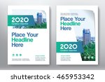 green color scheme with city... | Shutterstock .eps vector #465953342