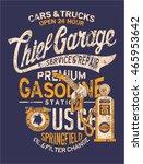 chief garage gasoline station ...   Shutterstock .eps vector #465953642
