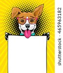 wow pop art dog. funny... | Shutterstock .eps vector #465963182