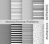 simple monochrome chevron and... | Shutterstock .eps vector #465965042