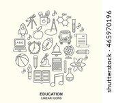 vector school background with... | Shutterstock .eps vector #465970196