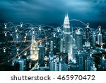 city scape and map pin flat... | Shutterstock . vector #465970472