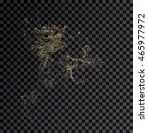 splash gold 3d transparent... | Shutterstock . vector #465977972