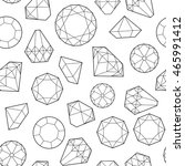 seamless pattern with diamonds... | Shutterstock .eps vector #465991412