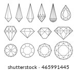 set of diamonds and crystals... | Shutterstock .eps vector #465991445