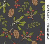 seamless christmas background... | Shutterstock .eps vector #465991646
