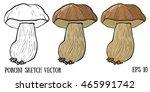 hand drawn wild forest... | Shutterstock .eps vector #465991742