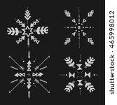 set of uncommon ethnic vector... | Shutterstock .eps vector #465998012