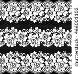 black damask vintage floral... | Shutterstock .eps vector #466001102