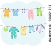Cute Clean Baby Clothes Hangin...