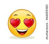 in love emoticon. | Shutterstock .eps vector #466005482