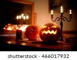 Group Of Spooky Halloween Jack...