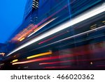 blurred traffic in downtown... | Shutterstock . vector #466020362