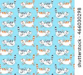 seamless pattern with different ... | Shutterstock .eps vector #466030298