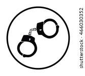 police handcuff icon. thin... | Shutterstock .eps vector #466030352