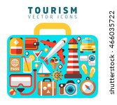 travel holiday vacation concept ... | Shutterstock .eps vector #466035722
