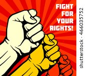 fight for your rights ... | Shutterstock .eps vector #466035752