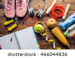 plan fitness concept with... | Shutterstock . vector #466044836