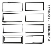blank grunge frame set | Shutterstock .eps vector #466045118