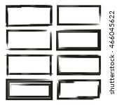 black grunge frame set | Shutterstock .eps vector #466045622