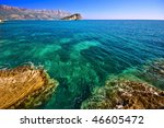beautiful adriatic sea with... | Shutterstock . vector #46605472