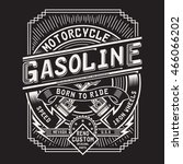 Motorcycle Gasoline Typography...