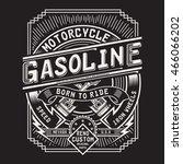 motorcycle gasoline typography  ... | Shutterstock .eps vector #466066202