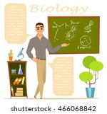 biology teacher. infographic ... | Shutterstock .eps vector #466068842