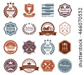 labels and badges set. vintage... | Shutterstock .eps vector #466070552