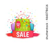 big sale banner with color... | Shutterstock .eps vector #466078616