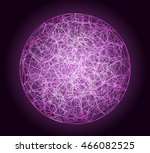 vector sphere wire shape on...   Shutterstock .eps vector #466082525