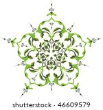 traditional antique ottoman... | Shutterstock .eps vector #46609579