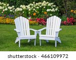 Adirondack Chairs In The Flower ...