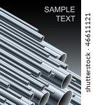 Stack Of Steel Tubing  Vector...