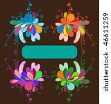 floral frame for text | Shutterstock .eps vector #46611259