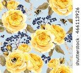 seamless vintage flowers | Shutterstock .eps vector #466113926