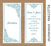 wedding card or invitation... | Shutterstock .eps vector #466115726