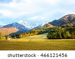 beautiful landscape view with... | Shutterstock . vector #466121456