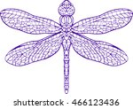 Dragonfly Line Art Coloring...
