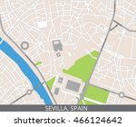 vector color map of sevilla ... | Shutterstock .eps vector #466124642