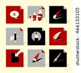 vector flat icons set   art