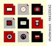 vector flat icons set   gadgets ...