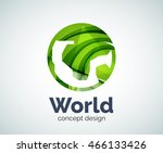 earth logo template  abstract... | Shutterstock .eps vector #466133426