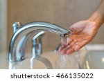 woman taking a bath at home... | Shutterstock . vector #466135022