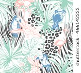 vector illustration tropical... | Shutterstock .eps vector #466142222