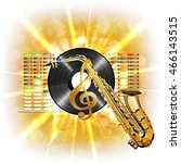 musical background flash ... | Shutterstock .eps vector #466143515