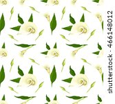 floral vector pattern with... | Shutterstock .eps vector #466148012